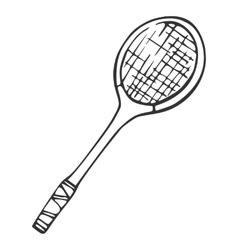 Inventory for badminton Racket vector image vector image