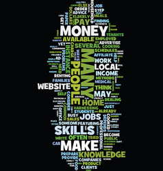 money is this how you make it text background vector image vector image