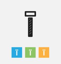 Of tools symbol on bolt vector