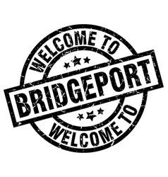 welcome to bridgeport black stamp vector image vector image