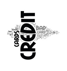 A guide to bad credit credit cards text word vector