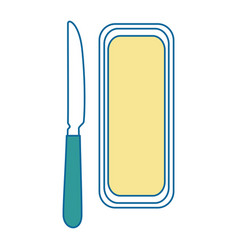 butter bar and knife icon vector image
