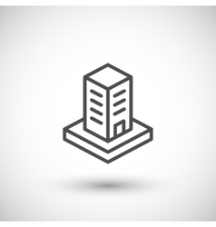 Skyscraper line icon vector image vector image