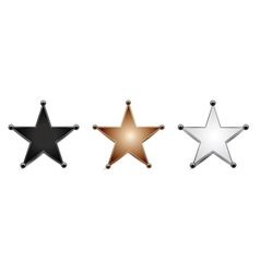 stars isolated on white vector image vector image