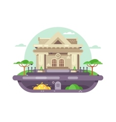 Architectural bank building vector image
