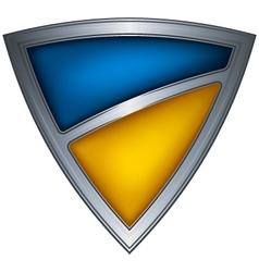 steel shield with flag ukraine vector image vector image