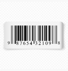 3d realistic label with barcode vector image
