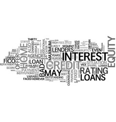 A guide to bad credit home equity loans text word vector