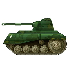 A military tank vector image