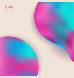 abstract 3d creative fluid colorful shape vector image