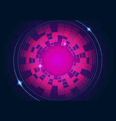 abstract red blue circular equalizer background vector image