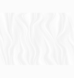 Abstract white glossy smooth waves background vector