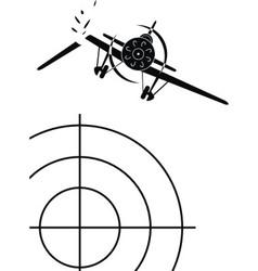 air combat of military aircraf vector image