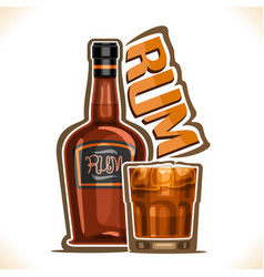 Alcohol drink rum vector