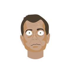Character portrait peter strzok vector