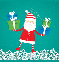 Christmas blank with santa claus vector