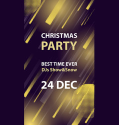 Christmas night club party flyer or poster vector
