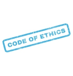 Code Of Ethics Rubber Stamp vector image