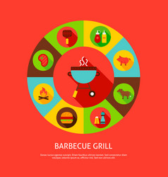 Concept barbecue grill vector