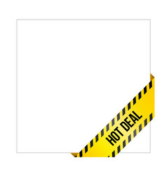 Corner label for online shop hot deal vector