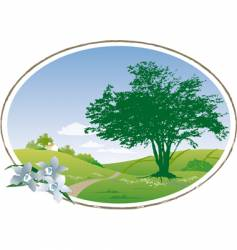 Country scene vector