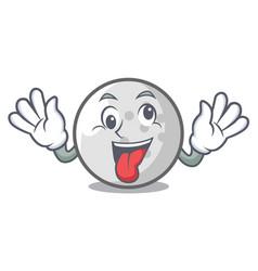 Crazy golf ball mascot cartoon vector