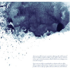 dark blue black grunge watercolor ink texture vector image