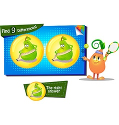Differences the funny pear vector