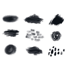 different black spots vector image