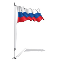 Flag Pole Russia vector image