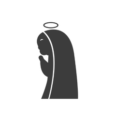 Flat icon in black and white style father Jesus vector
