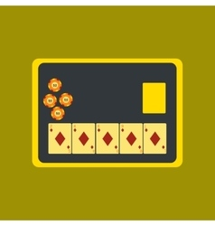 Flat icon on stylish background board card chip vector