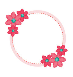 floral wreath decorative icon vector image