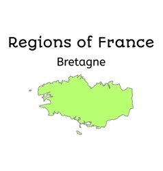 France administrative map of brittany vector