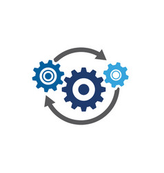 gear template icon vector image