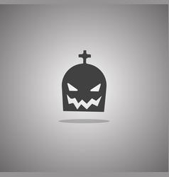 gourd cross halloween isolated vector image