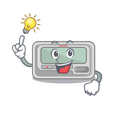 Have an idea pager cartoon isolated with the vector