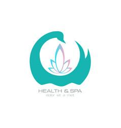 health n spa vector image