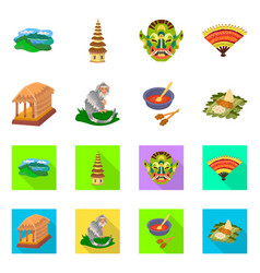 isolated object of and travel icon set of and vector image