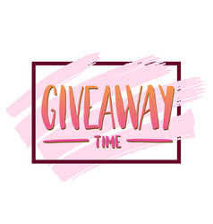 Its giveaway time modern poster template design vector