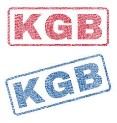 kgb textile stamps vector image