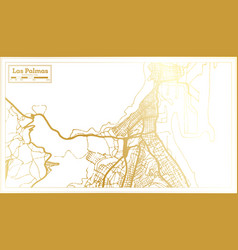Las palmas spain city map in retro style in vector