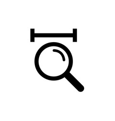 Magnification icon concept for web and mobile vector