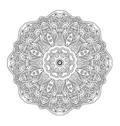 Mandala eastern pattern coloring zentangl round vector