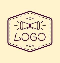 Mass media creative logo vector image