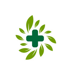 medicine pharmacy logo vector image