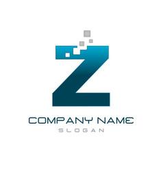 modern letter z vector image