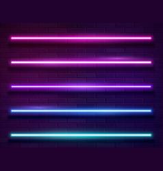 modern neon iridescent glowing lines banner on vector image