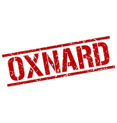 Oxnard red square stamp vector image