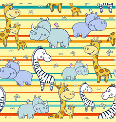 Pattern with zebras and hippogiraffe4-01 vector